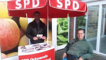 Infostand Bundestagswahl REWE Große Diesdorfer Str.